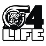 """Turbo 4 Life""-Aufkleber"